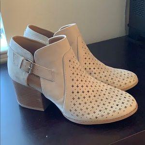 Brand New, Never Worn Grey Heel Booties